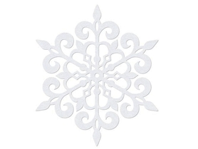 (ZSS1-11) Śnieżynka 11 cm - 10 sztuk