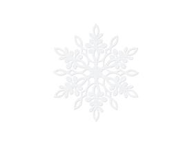 (ZSS3-9) Śnieżynka 9 cm - 10 sztuk