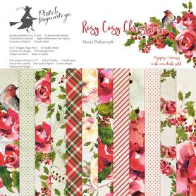 Bloczek papierów P13 Rosy Cosy Christmas 15x15cm