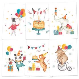 P13 Zestaw 3 miniPlakatów Happy Birthday 15 x 20cm