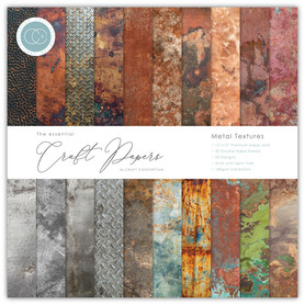 Papiery 30x30cm Craft Consortium - Metal Texture