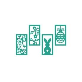 Wykrojnik - S3 - Cztery ramki Wielkanoc Wiosna (1316)