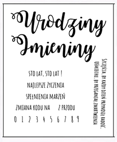 Stemple z napisami Urodziny Imieniny (2129)