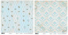 BS281201 Papier dwustronny - Baby Star - Blue Square