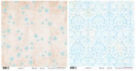BS281199 Papier dwustronny Baby Star - Blue Stars