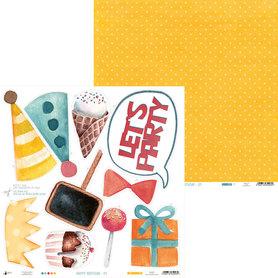 P13-408 Arkusz papieru Happy Birthday 01 - 30x30cm