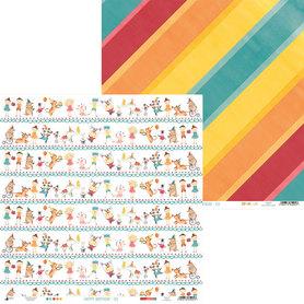 P13-410 Arkusz papieru Happy Birthday 03 - 30x30cm