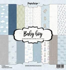 PD18014 Zestaw papierów Baby Boy  - 30x30cm