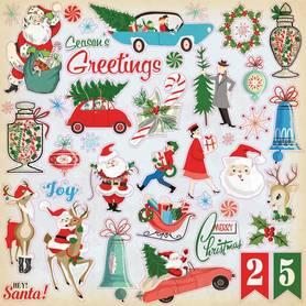 CBVMC72014 Naklejki 30x30 - A very Merry Christmas
