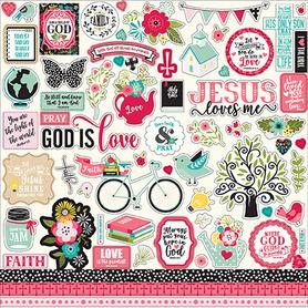 FWF183014 Naklejki 30x30 - Forward With Faith