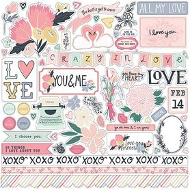 YM168014 Naklejki 30x30 - You & Me