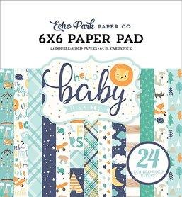 Zestaw papierów Hello Baby Boy  15x15cm