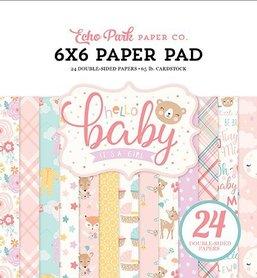Zestaw papierów Hello Baby Girl 15x15cm