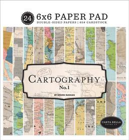 Zestaw papierów Cartography No.1 15x15cm