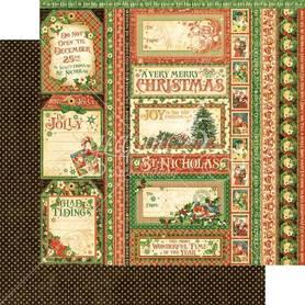(4501407) Arkusz papieru Graphic 45 - 30x30cm