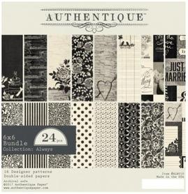 Zestaw papierów Authentique Always 15x15 cm