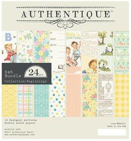 Zestaw papierów Authentique Beginnings 15x15 cm