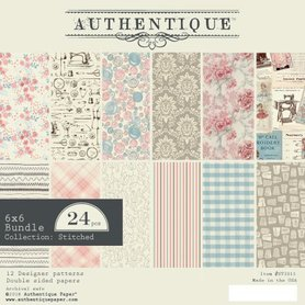 Zestaw papierów Authentique Stiches 15x15 cm