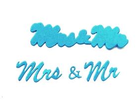 Wykrojnik Napis Mr & Mrs (L4-2126)