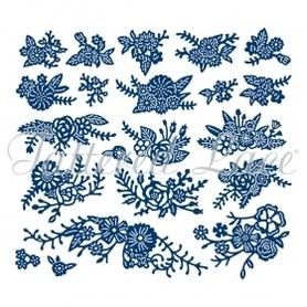 Wykrojnik Tattered Lace- Flower Medley 21el (W384)