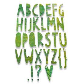 662667 Wykrojnik Sizzix - Paper Cuts Alphabet