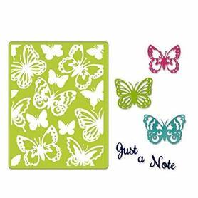 662753 Wykrojnik Sizzix + folder do embossingu - Just a note butterflies