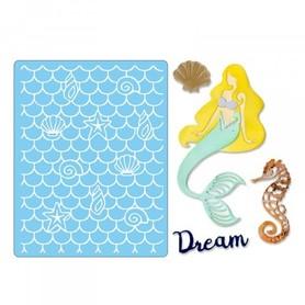 662752 Wykrojnik Sizzix + folder - Dream Mermaid