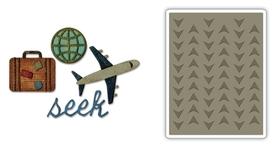 662714 Wykrojnik Sizzix + folder - Travel