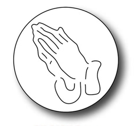 Wykrojnik Button Ręce w modlitwie (C2-H2892)
