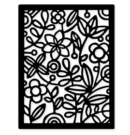 Wykrojnik Tło z kwiatami (1782-S4)