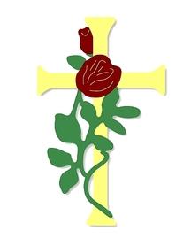 Wykrojnik Krzyż z różą (0719-B3)