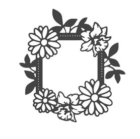 Wykrojnik Ramka kwiatowa (0513-I3)