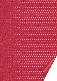 Arkusz A4 200g Heyda Kropki 03 czerwony