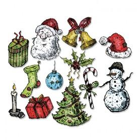 662437 Wykrojnik Sizzix - Tattered Christmas 12 el