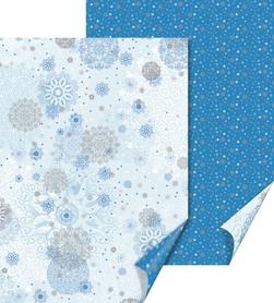 Arkusz A4 300g Śnieżynki, niebieski (191)
