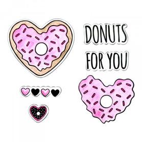 662680 Wykrojnik Sizzix + stemple - Donuts for You