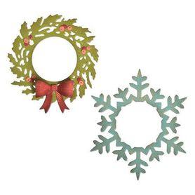 Wykrojnik Sizzix - Wreath & Snowflake 664210