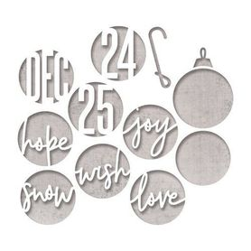 Wykrojnik Sizzix - Circle Words, Christmas 664205