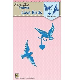 Wykrojnik Nellie's Love Birds (SDB038-X2)