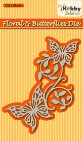 Wykrojnik Nellie's Floral & Butterflies (HSDJ003-F2)