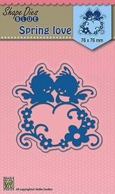 Wykrojnik Nellies Spring Love (SDB016-X2)