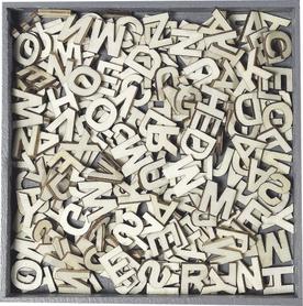 Ozdoby drewniane Alfabet 250 literek (099)