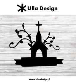 Wykrojnik ULLA DESIGN - Kościół z banerem (0719-2)