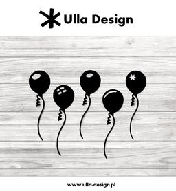 Wykrojnik ULLA DESIGN - Pięć balonów (0719-6)