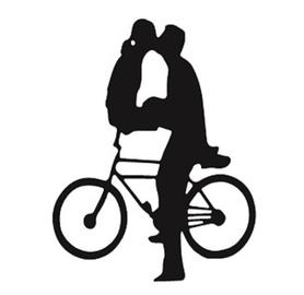 Wykrojnik Para na rowerze (15719/12-X3)