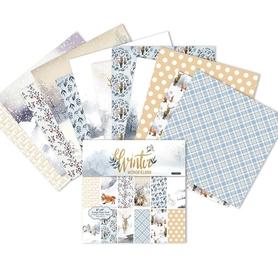 Zestaw 24 papierów 15x15cm - Winter Wonderland