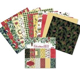 Zestaw 24 papierów 15x15cm - Christmas Party