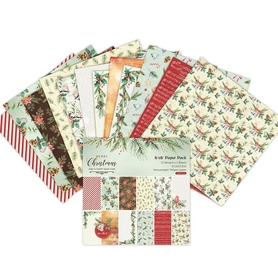 Zestaw 24 papierów 15x15cm - Merry Christmas