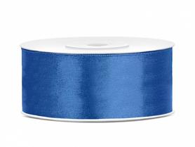 Tasiemka wstążka satynowa 25 mm/25 m niebieska