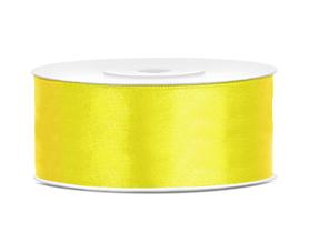 Tasiemka wstążka satynowa 25 mm/25 m żółta